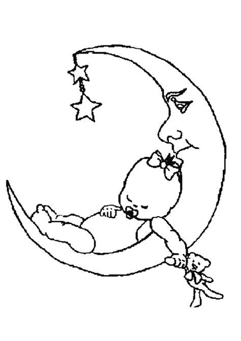 faisant l amour dans la cuisine coloriage bébé faisant un gros dodo sur la lune hugolescargot com