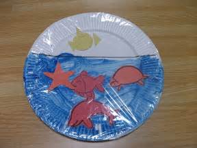 preschool crafts for easy sea paper plate craft