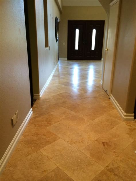 travertine  herringbone west coast flooring