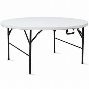 Table Pliante Ronde : table pliante ronde 10 places ~ Teatrodelosmanantiales.com Idées de Décoration