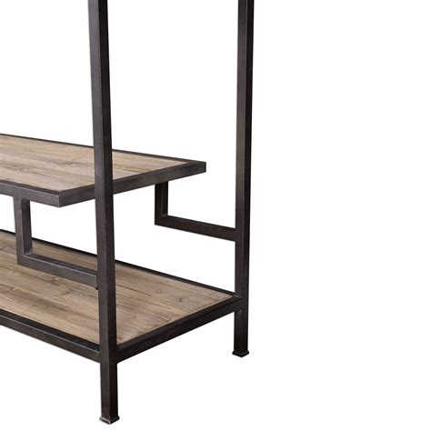 Industrial Etagere by Sherwin Industrial Etagere Uttermost Free Standing Shelves
