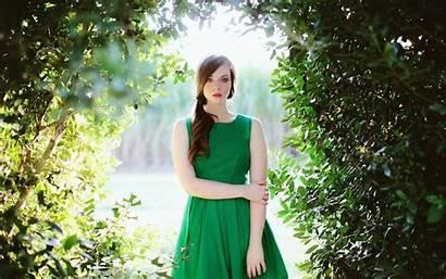 Cantik Verde Chica Vestido Forest Naturaleza Largo