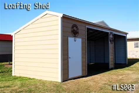 metal loafing sheds delivered and installed