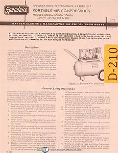 Dayton 3z Series  Portable Air Compressors  Specs And