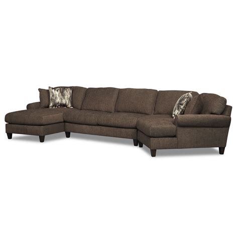 sears sectional sofa oval brown modern iron tables sears