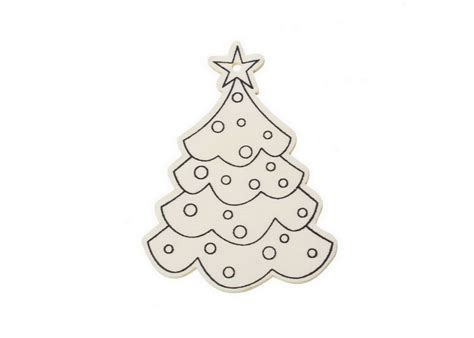 silueta de madera arbol de navidad