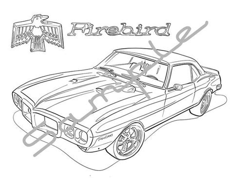 pontiac firebird adult coloring page printable coloring