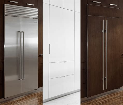 thermador  ge monogram integrated refrigerator columns