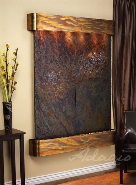 majestic river slate wall fountain indoor fountains