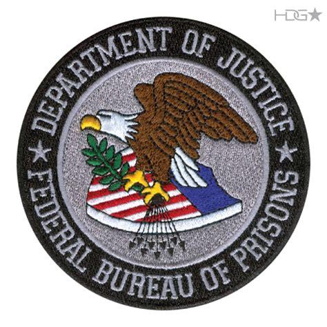 federal bureau of justice bop seal patch large color hdg tactical