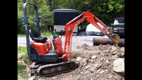 mini excavator  work time lapse  hours   minutes kubota   youtube