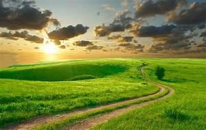 nature road summer sky morning sun clouds beautiful hills ...