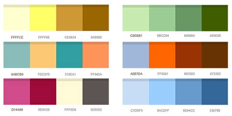 12 Set Of Color Combinations (psd)  Graphicsfuel
