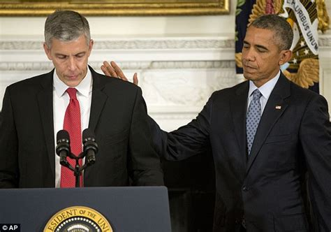 Cabinet Member Duncan by Education Arne Duncan Thanks Barack Obama For