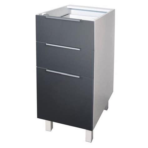 fabricant caisson cuisine pop meuble bas de cuisine l 40 cm gris mat achat