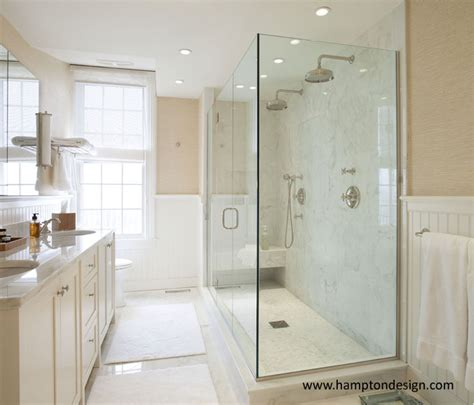 His And Shower by His And Shower Heads Traditional Bathroom