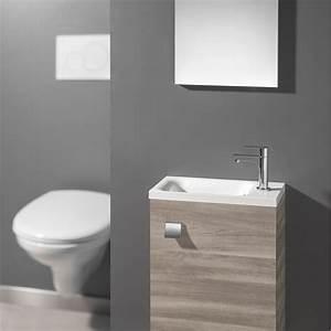 Lave Main Pour Wc : meuble lave mains avec miroir coin d 39 o leroy merlin ~ Premium-room.com Idées de Décoration