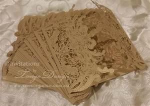diy lasercut wedding invitations gold lace pattern kit With homemade laser cut wedding invitations