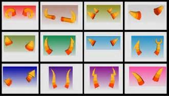 Troll Horn Templates by Kimi S Papercrafts Homestuck Troll Horns