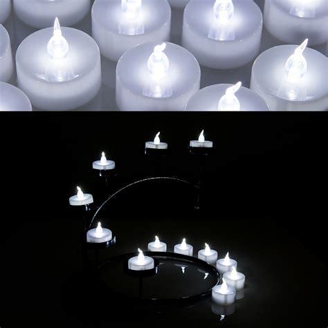 battery operated tea lights 24 pcs led tealight battery operated flameless flickering