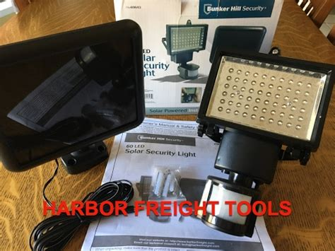 bunker hill security light harbor freight bunker hill 60 led solar security light