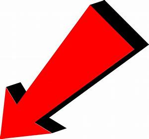 Arrow Red Pointing Bottom Left transparent PNG - StickPNG