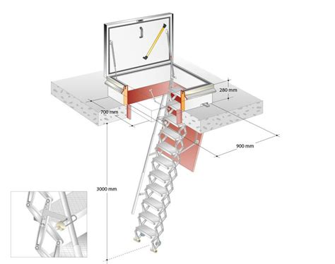 scissor stairs roof access with gorter scissor stairs attic http gortergroup com en products roof