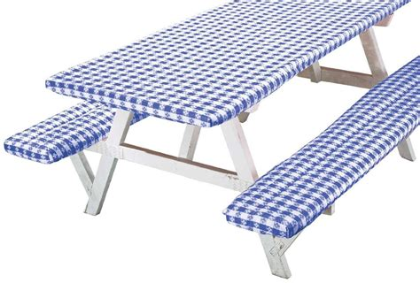 deluxe picnic table cover set of 3 ebay
