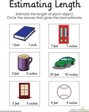 estimating length worksheets for grade 2 estimating length worksheet education com
