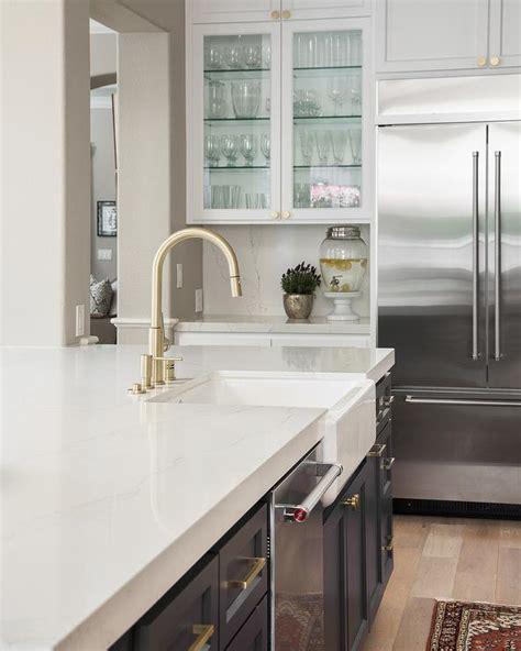glass front cabinets contemporary kitchen de giulio