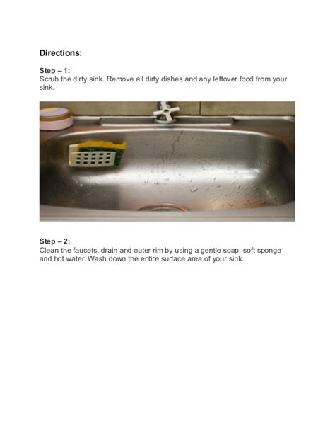 how to clean kitchen sink with baking soda and vinegar how to clean a drain kitchen sink using baking soda and 9958