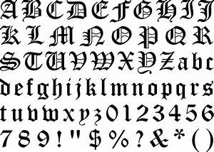 gothic texture alphabet 12 With old english gothic letters