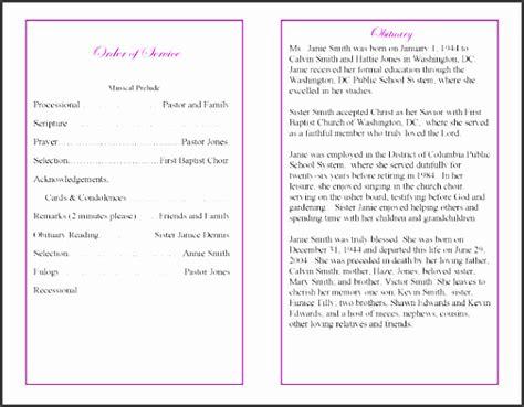 funeral program  sampletemplatess