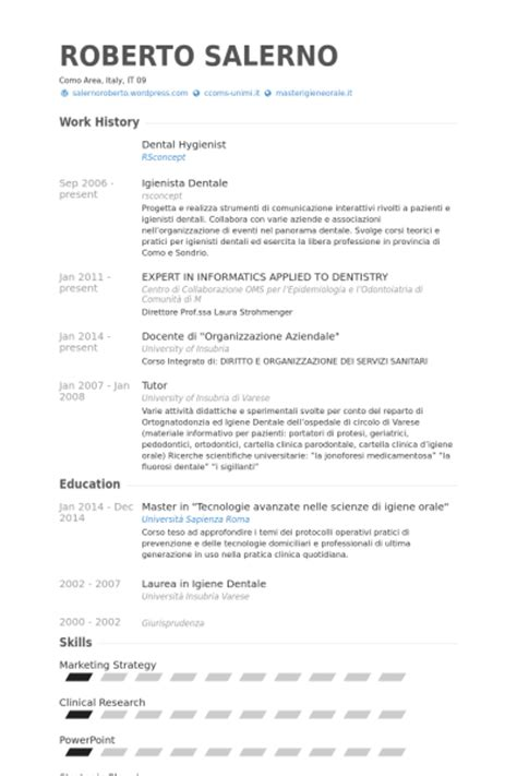 dental hygienist resume sles visualcv resume sles