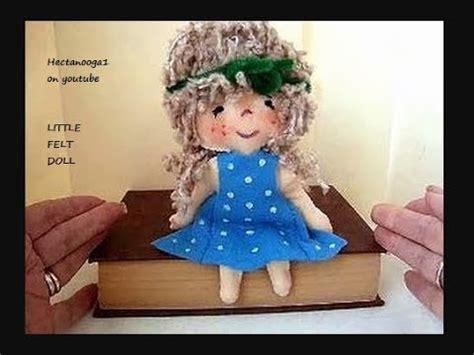 felt doll   diy hand sewing pattern
