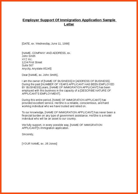 Recommendation Letter For Resume by Immigration Recommendation Letter Program Format