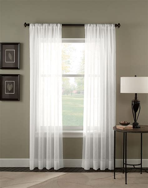 White Sheer Voile Curtains by Crinkle Voile Sheer Length Curtain Panel