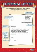 Informal Letter Poster Writing Pinterest Sample Of Formal And Informal Letters Google Search Formal Letter Vs Informal Letter FORMAL AND INFORMAL LETTERS Road To Get 39 BAC 39 Material