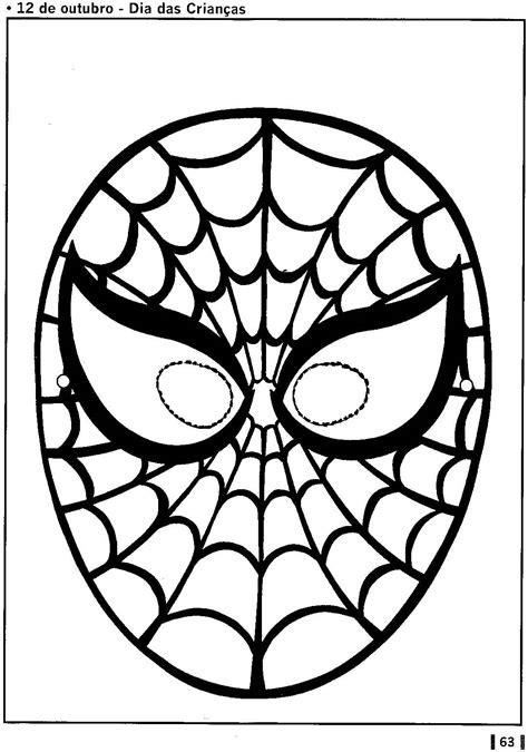 Máscara de homem aranha
