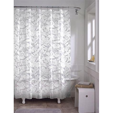 Bathroom Curtains At Walmart by Maytex White Seashell Peva Shower Curtain Walmart