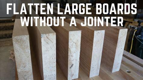 flatten large boards   jointer