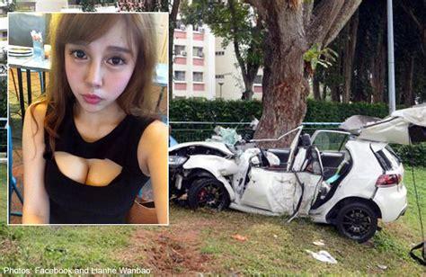 ecp accident taiwanese model dies  car crash singapore