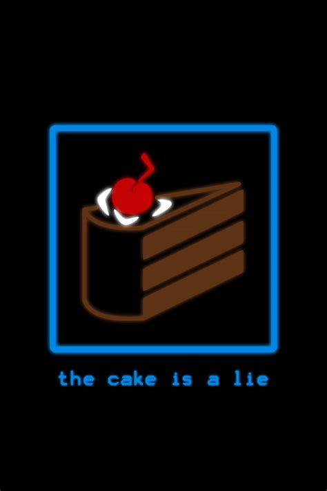 the cake is a lie the cake is a lie for ipod iphone by donkoopa on deviantart