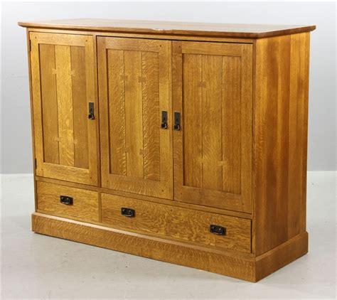 Quarter Cabinet by Lot Detail Stickley Quarter Sawn Oak Cabinet