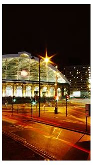 Night Lights in the Train Station in Liverpool image ...