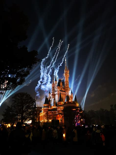 Disneyland Light Show by Been Sitting On This Picture I Took During The Light Show