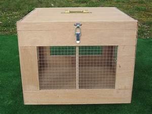 Petite Caisse En Bois : petite caisse bois 2 compartiments amovible transport lapin ~ Teatrodelosmanantiales.com Idées de Décoration