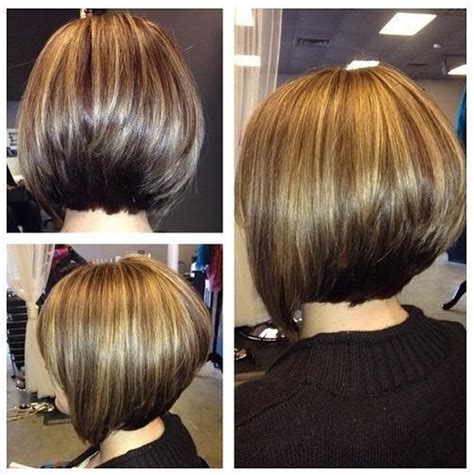 ideas of stacked bob hairstyles back view