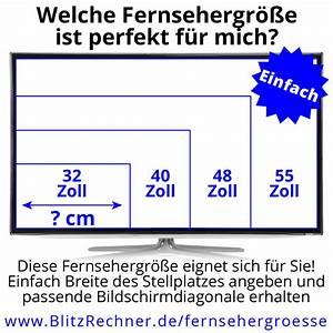 Zoll Fernseher Maße : fernseh rechner zoll zentimeter h he breite abstand ~ Orissabook.com Haus und Dekorationen
