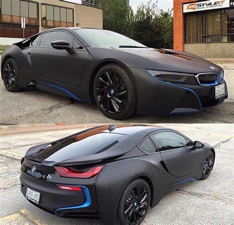 Bmw I8 Black And Blue by Matte Black Bmw I8 With Blue Details Garage